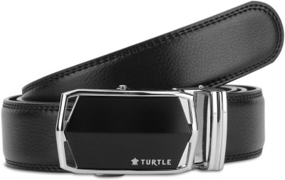 Turtle Men Evening Black Genuine Leather Belt