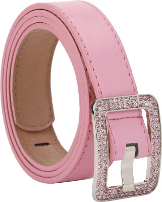 Freshka Women Party Pink Artificial Leather Belt
