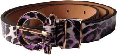 Grace Fashion Villa Girls Purple Artificial Leather Belt