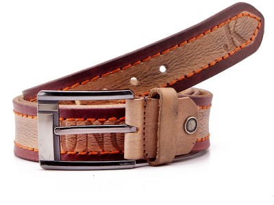Junckers Men, Boys Casual, Party, Formal, Evening Brown Genuine Leather Belt
