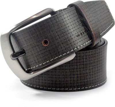 Cavallo Men Casual, Formal, Evening, Party Grey Genuine Leather Belt