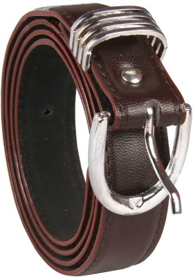 Harp Boys, Men, Girls, Women Casual, Party, Evening, Formal Brown Artificial Leather Belt