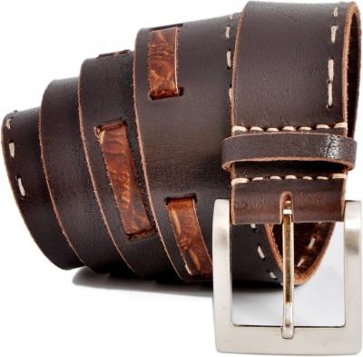 Stylox Men Casual Brown Genuine Leather Belt