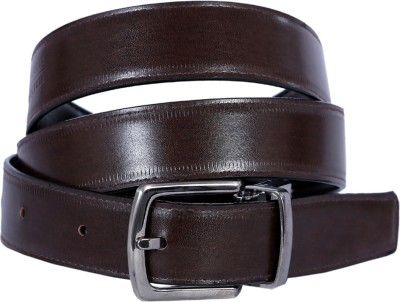 KRITIKAS,WORLD Men Casual Black Genuine Leather Reversible Belt