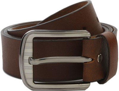 Nypc Men Formal Brown Genuine Leather Belt