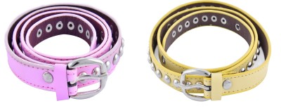 DEWY Women Casual Multicolor Artificial Leather Belt