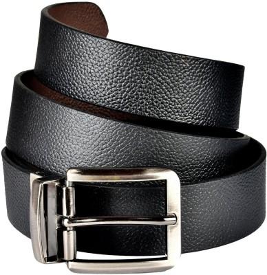 sankalp Men Formal Black Genuine Leather Belt