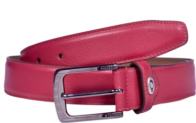 AER LEATHER Men, Boys Formal Red Synthetic Belt