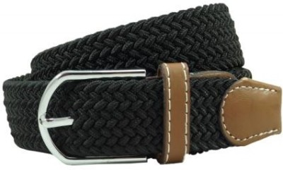 The Tie Hub Men Casual Black Synthetic Belt