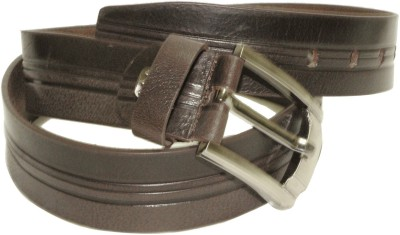 Alarafaat Men Casual Brown Genuine Leather Belt