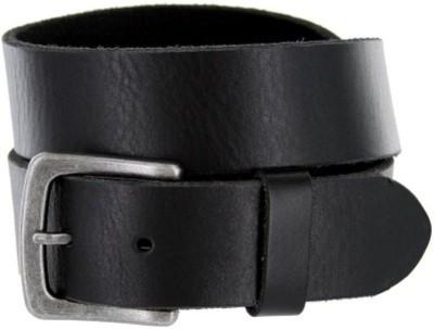Ruchiworld Men Black Genuine Leather Belt