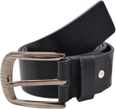 Porcupine Men Formal Black Genuine Leather Belt