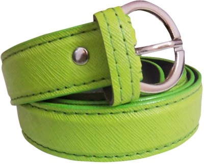 Rege Girls Casual Green Artificial Leather Belt