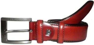 Ruchiworld Men Red Genuine Leather Belt