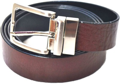 Modish Men Casual, Formal Black Genuine Leather Reversible Belt