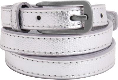 Aadaana Women Casual Silver Artificial Leather Belt