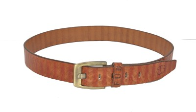Fub Men Formal Brown Genuine Leather Belt