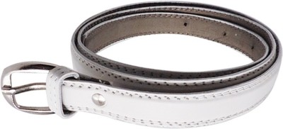 FINCH FEATHER Women Casual, Formal White Artificial Leather Belt