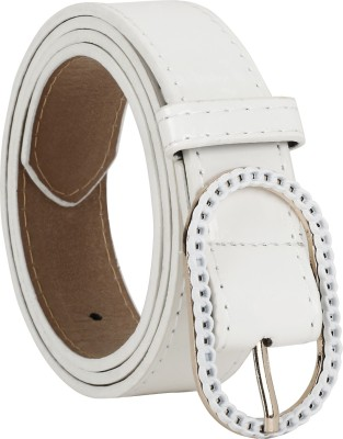Freshka Women Casual White Artificial Leather Belt