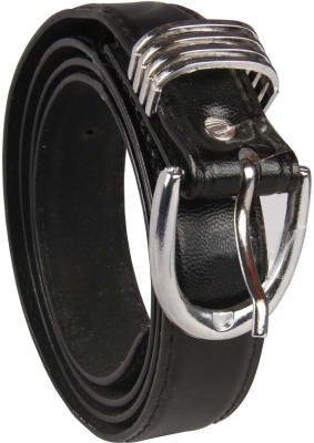 Harp Men, Boys, Girls, Women Casual, Party, Formal, Evening Black Artificial Leather Belt