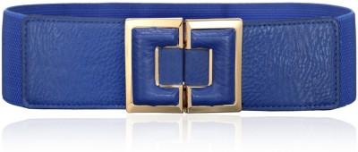 Calvino Women Casual, Formal Blue Artificial Leather Belt