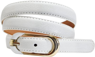 Hadwin Girls Formal White Artificial Leather Belt