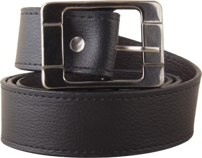 FastFox Men, Boys Black Genuine Leather Belt