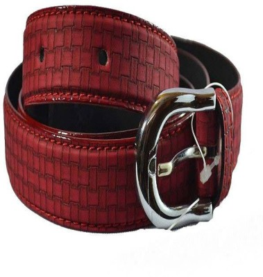 British Polo Club Women Casual Red Genuine Leather Belt