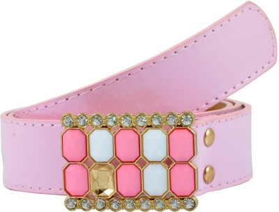 Antiformal Women Party, Casual Pink Artificial Leather Belt