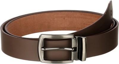 Osaiz Men, Boys Formal Brown Genuine Leather, Metal Belt