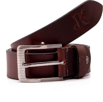 Junckers Men, Boys, Girls Formal, Casual, Party, Evening Brown Genuine Leather Belt