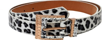 Gen Women Casual White Artificial Leather Belt