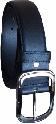 Stylemax Men Formal Black Artificial Leather Belt