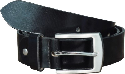 Adhaans Men Casual Black Genuine Leather Belt