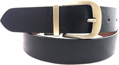 Red Cross Men, Boys Black Genuine Leather Belt
