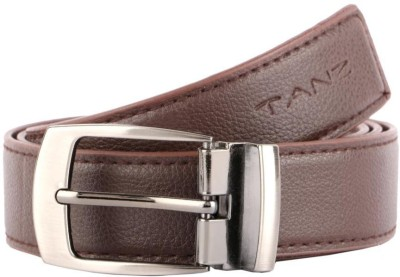 Tanz Men Casual Brown Artificial Leather Belt