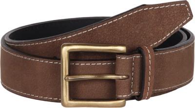 Kaizu Men Casual Brown Genuine Leather Belt