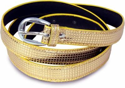 Victoria Secret Women Gold Artificial Leather Belt