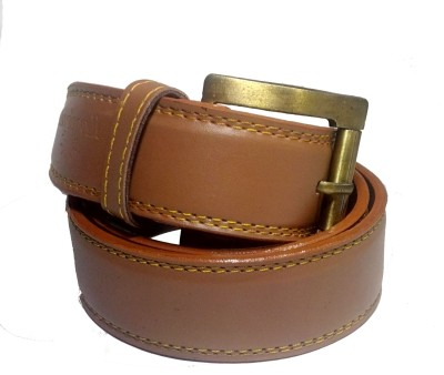 December Dew Men, Boys Tan Artificial Leather Belt