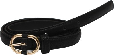 SRI Women Black Artificial Leather Belt