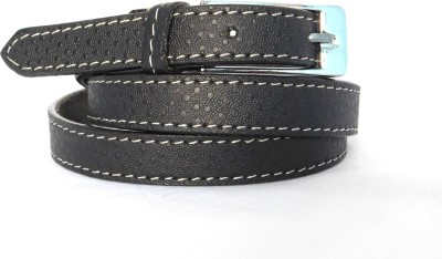 FINCH FEATHER Girls, Women Casual, Formal Black Genuine Leather Belt