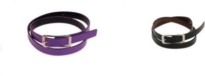 Bs Spy Men Casual Purple Artificial Leather Belt