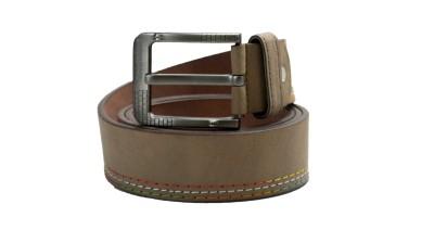 Drakemen Men Casual Grey Genuine Leather Belt