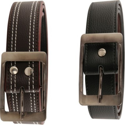 Aleron Men Multicolor Artificial Leather Belt
