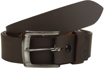 KRG ENTERPRISES Men Casual Black Genuine Leather Belt
