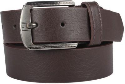 KRG ENTERPRISES Men Casual Brown Genuine Leather Belt