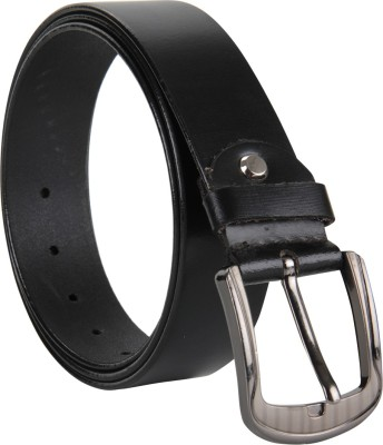Cottage Accessories Men Black Genuine Leather Belt