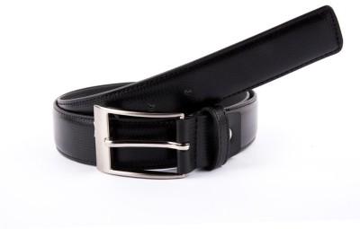 Hugo Broun Men Black Genuine Leather Belt