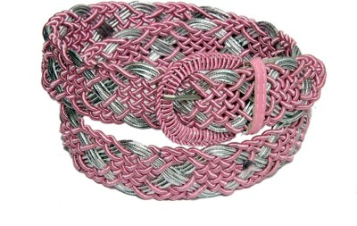 Royal Premium Girls Casual Pink, Silver Synthetic Belt