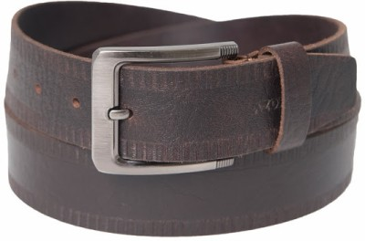 Azores Men Formal Brown Genuine Leather Belt